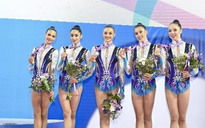 Rhythmic gymnast side are one of Israel's main medal hopes