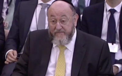 The Chief Rabbi speaking at the Home Affairs Select Committee