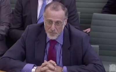 Sir Mick Davis appearing at a House of Commons select committee