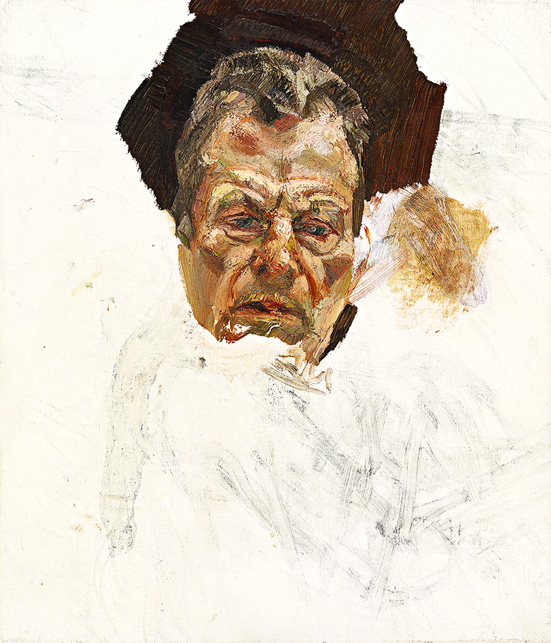 Self-portrait (fragment) by Lucian Freud, c1980s