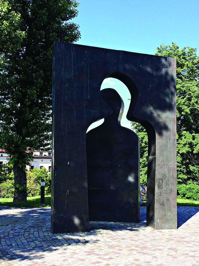 The Transgression sculpture on site of Jewish ghetto, Rzeszow