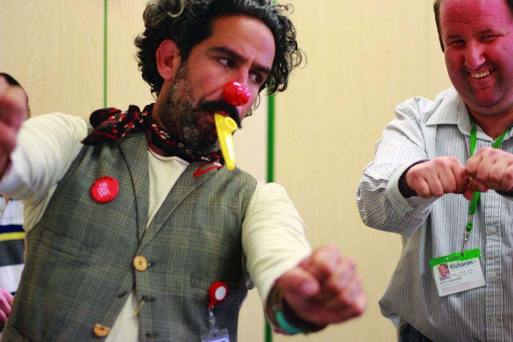 Dush demonstates his skills during his Hendon visit