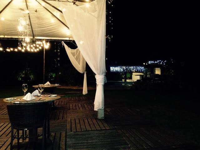 Dinner by the pool at Itamambuca Eco Resort