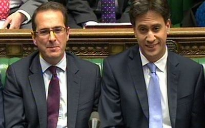 Ed Miliband with Owen Smith on the opposition front bench. (Photo credit: PA Wire)