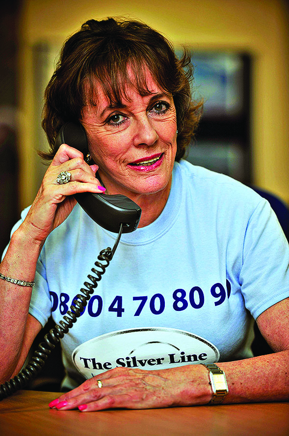Esther Rantzen launched The Silverline a telephone helpline for older people.