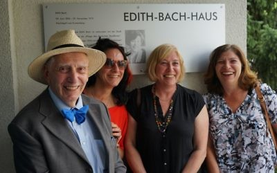At Edith Bach house in Berlin