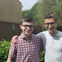 Hasmonean: Brothers Natan and Raffi Maurer Celebrating GCSE and A Level Success