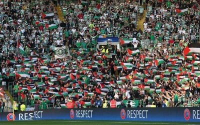 Celtic faced disciplinary action after their fans waved Palestinian flags against Israeli champions Hapoel Beersheva during their Champions League match