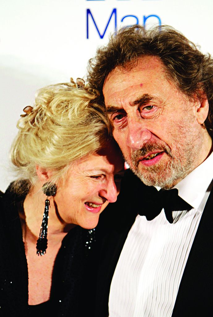 Author Howard Jacobson and his wife, Jenny