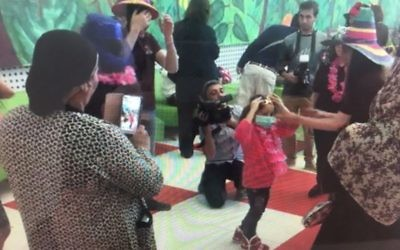 Medics at the Israeli hospital threw a party for the six-year-old Syrian girl after her successful seven-month stay.