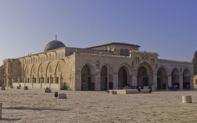 Al-Aqsa Mosque on the Temple Mount, in the Old City of Jerusalem.