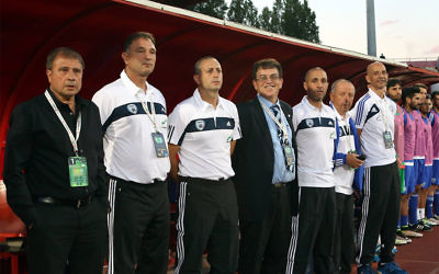 """Elisha Levy (left) says his side will find it """"very difficult"""" to qualify for the 2018 World Cup"""