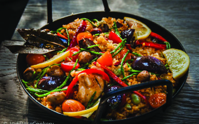 Judi Rose's chicken and chorizo paella