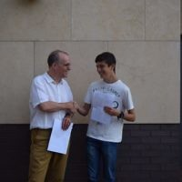 JCoss:  Patrick Moriarty with Aviv Silver who got 12A*