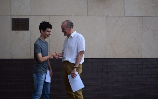 JCoss head Patrick Moriarty with Josh Cowan who got 13A*