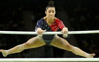 Aly Raisman helped the American artistic gymnastic team to gold in the women's team event