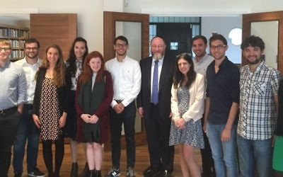 The UJS team with Rabbi Mirvis