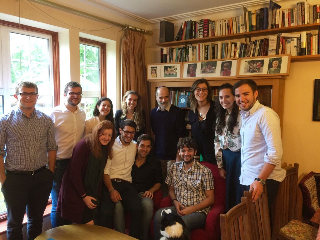 The UJS team with Rabbi Wittenberg
