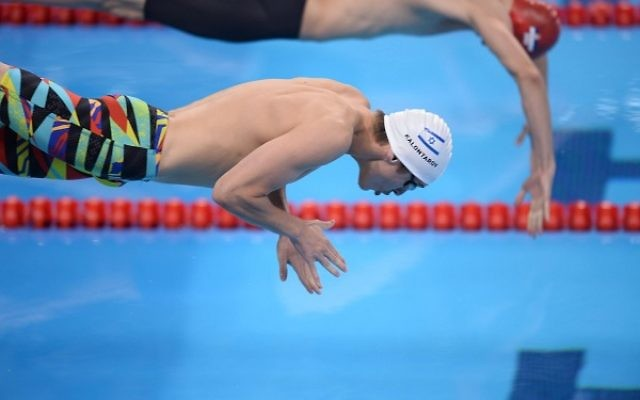 Ziv Kalontarov missed put on qualifying for the 50m freestyle semi-finals