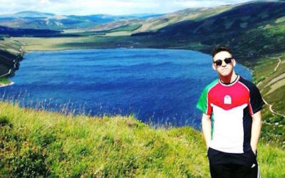 Daniel Yahia wearing a Palestine shirt