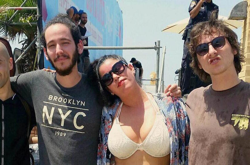 Israeli beach performance halted over bikini complaint jewish news hanna goor second from right was asked to cover up her bikini during a publicscrutiny Image collections