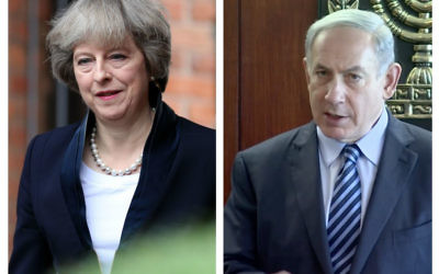 Theresa May and Benjamin Netanyahu.