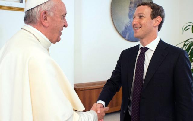 Pope Francis meets the Facebook chief Mark Zuckerberg