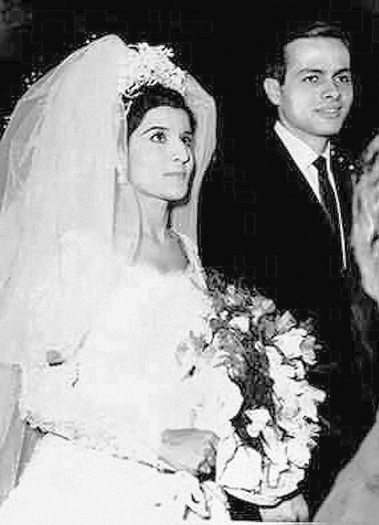 Ashraf Marwan at his wedding to Mona, daughter of Gamal Abdel Nasser
