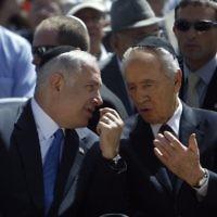 Shimon Peres  with Benjamin Netanyahu