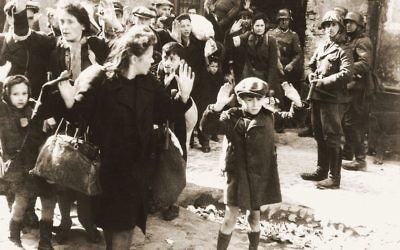 Polish Jews in the Ghetto being marched out by the Nazis