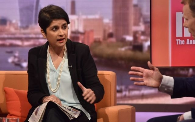 Shami Chakrabarti defends her peerage on BBC1.