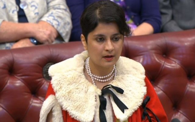 Shami Chakrabarti takes her seat in the House of Lords (Photo credit: PA Wire)