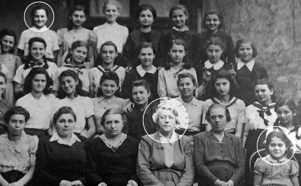 Jane Haining (centre) and Agnes Rostas (bottom right) as former pupils from her Church of Scotland-run school in Budapest held an event in her memory. (Photo credit : The Church of Scotland/PA Wire )