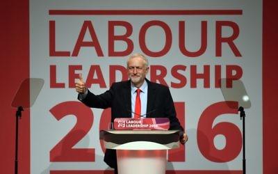 Jeremy Corbyn celebrates his second Labour leadership victory