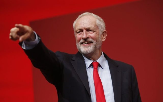 Jeremy Corbyn celebrates his victory in the Labour leadership (Photo credit: Danny Lawson/PA Wire)
