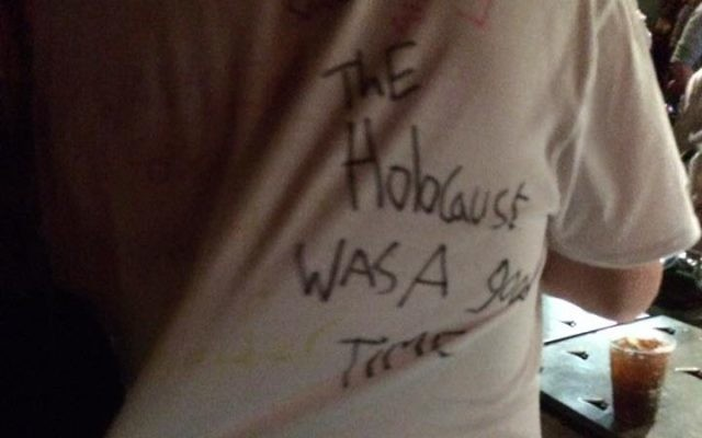 A T-shirt saying the Holocaust was a good thing (Credit: @972mag)