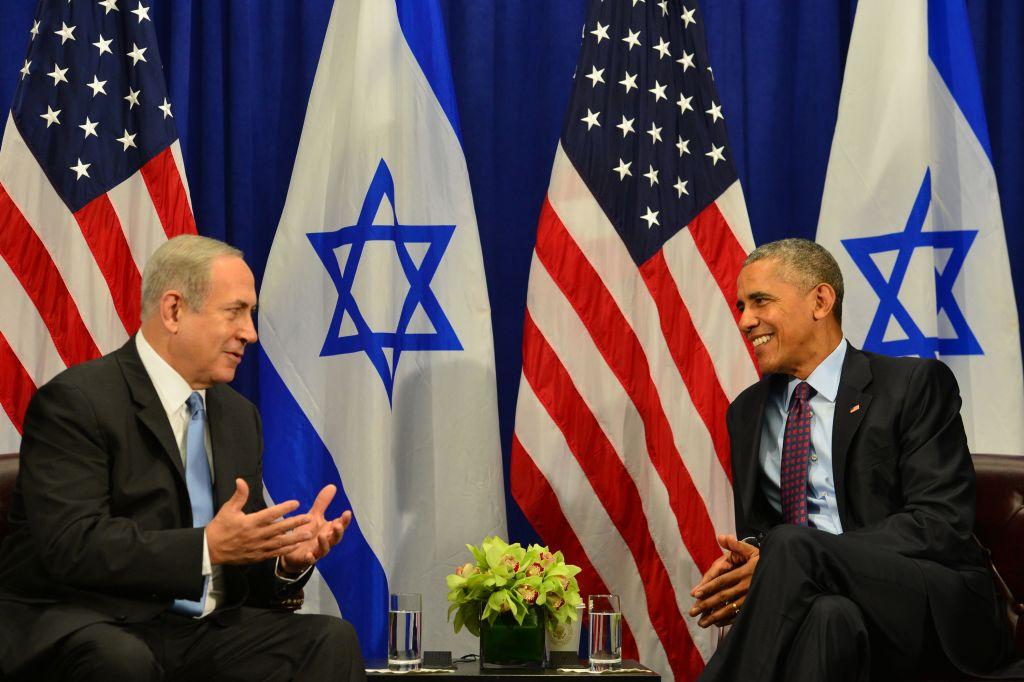 Ex-U.S. President Barack Obama had a fraught relationship with Israeli Prime Minister Benjamin Netanyahu. Here the two met in New York, Septermber 2016 Photo credit: Kobi Gideon/GPO via JINIPIX
