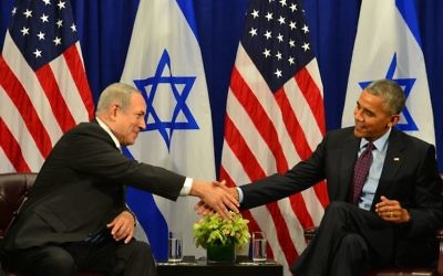U.S. President Barack Obama with Israeli Prime Minister Benjamin Netanyahu (Photo credit: Kobi Gideon/GPO via JINIPIX)
