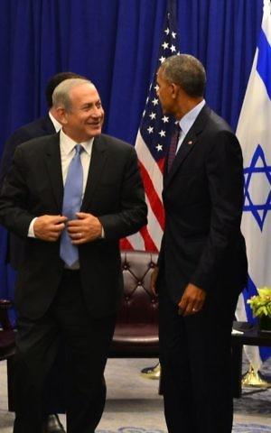 U.S. President Barack Obama meets with Israeli Prime Minister Benjamin Netanyahu in New York (Photo credit: Kobi Gideon/GPO via JINIPIX)