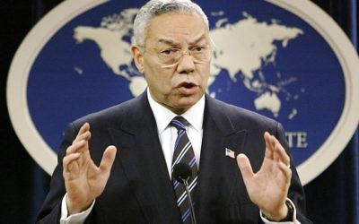 Former U.S. Secretary of State Colin Powell.