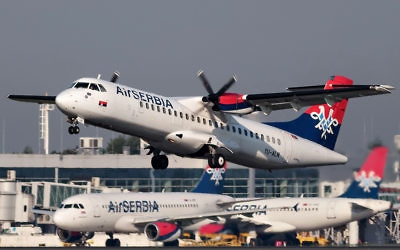 Air Serbia flights taking off