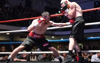 Josh Burnham lands a punch on his way to his latest win. Picture: Phil Sharkey
