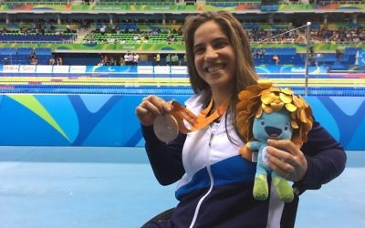 Inbal Pezaro has won Israel's third bronze medal at the Rio Paralympic Games.