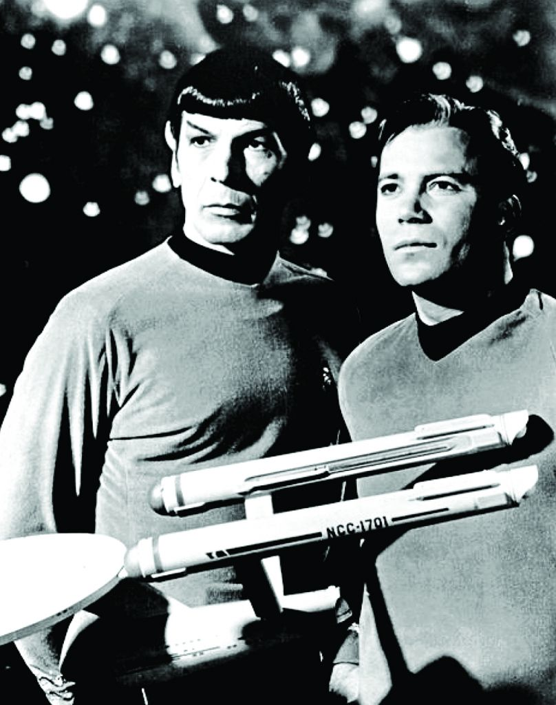 Leonard Nimoy and William Shatner in one of the first episodes in 1968