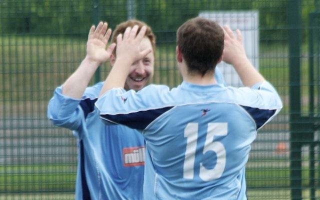 Avi Markiewicz celebrates one of his four goals