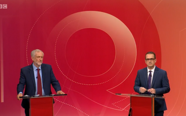 Jeremy Corbyn and Owen Smith face off on BBC Question Time