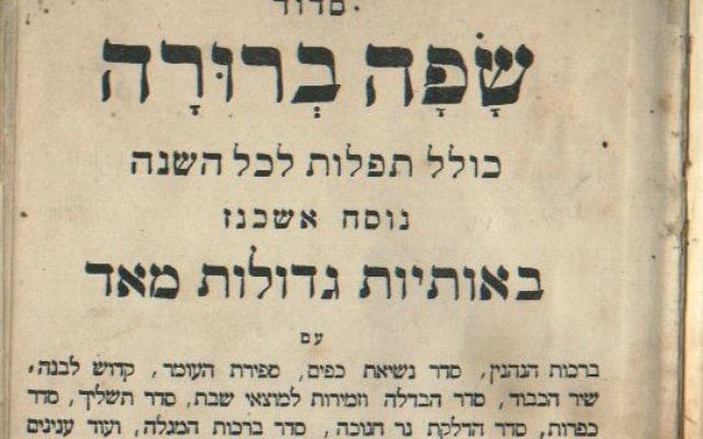 Text of a Jewish prayer book from Russia