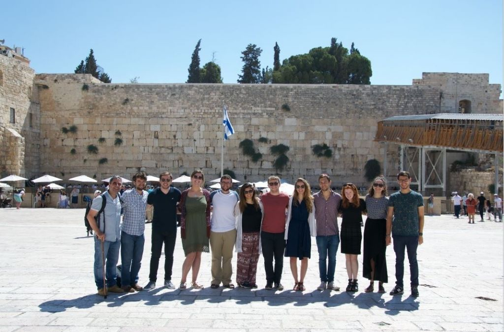 The UJS team in Israel. As a student, you can get involved in many opportunities with Jsoc and the Union of Jewish Students, including trips to Israel.