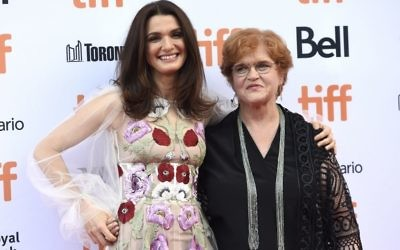 Actress Rachel Weisz, who played historian Deborah Lipstadt in Denial. with the eminent historian.