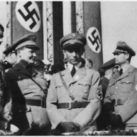 Adolf Hitler alongside senior Nazis Hermann Göring  Joseph Goebbels and Rudolf Hess